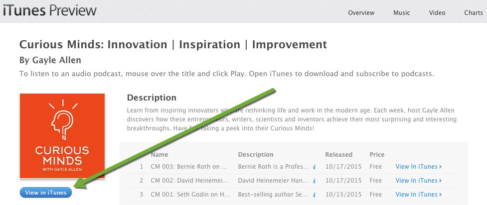 CM View in iTunes